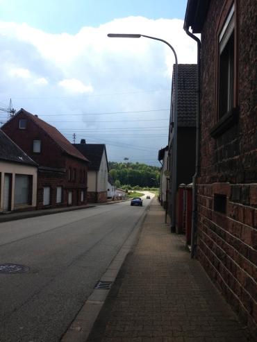 Ramsteiner Strasse looking towards Ramstein village