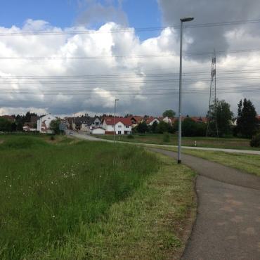 Ramsteiner Strasse looking back towards Miesenbach