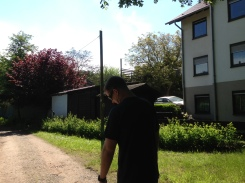 Nick enjoying the walk that I forced him to go on haha