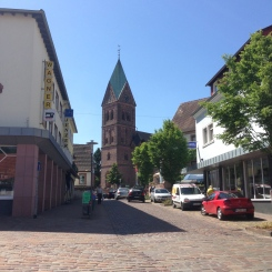 The church in Ramstein village