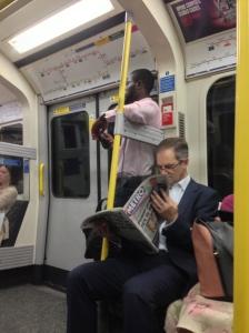 London men on the tube