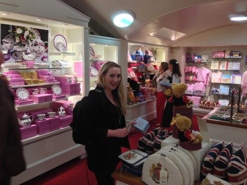 Buckingham Palace gift shop!