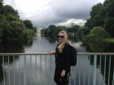 Hello - London Eye in background