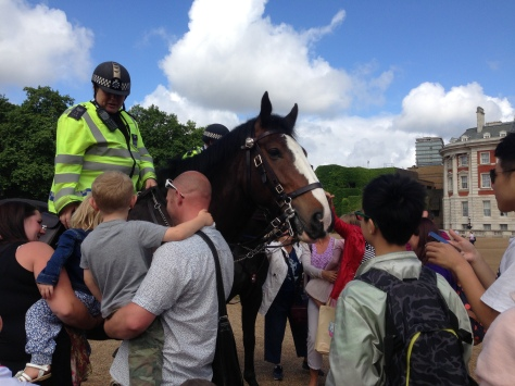 Policewoman and her mount - I patted him