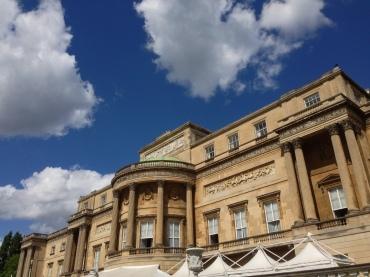 The rear side of Buckingham Palace