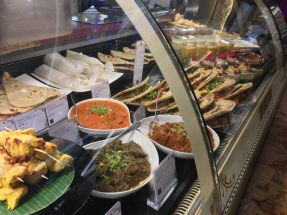 Yummy Harrods food in the Indian section