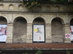 Cider advertised at tube station - this country rocks