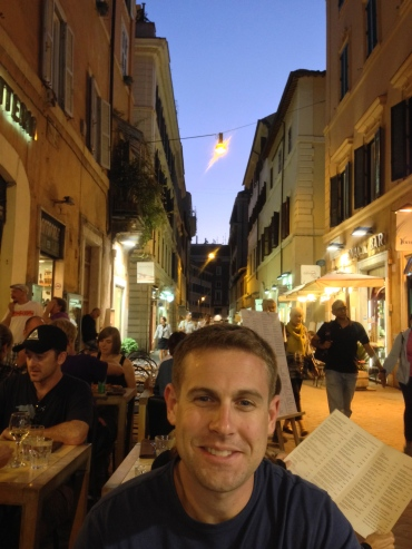 The cute little street the restaurant was on - so romantic!