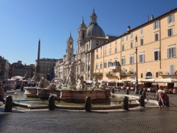 Piazza Navona Square, with lots of fountains depicting Ancient Mythological stories
