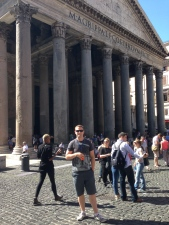 Nick outside the Pantheon