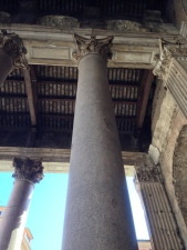 The art history nerd in me - having to take a photo of the columns haha