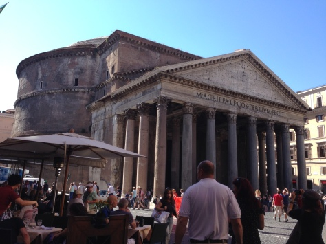 The Pantheon from a gelato place