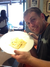 Nick enjoying ravioli