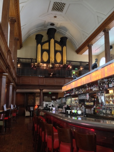 A Methodist church turned into a bar