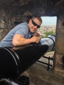Nick with the huge cannon