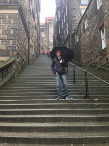 It was rainy