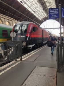 The train at Keleti station