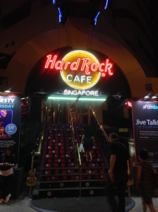 Hard Rock Singapore! Almost felt like we were walking into a strip club