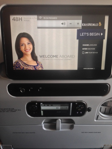 The far superior entertainment system on the 777-300
