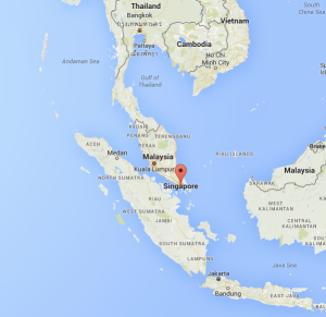 This is the geographical location of Singapore