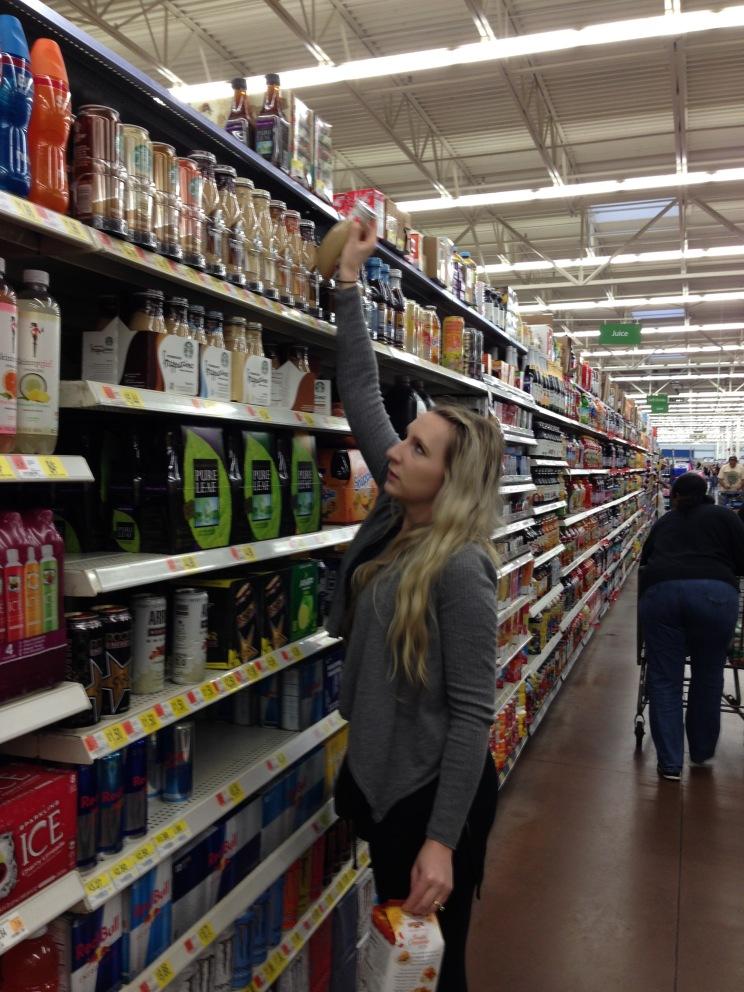 Shopping at Walmart