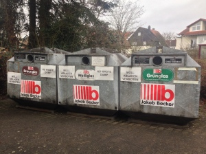 Glass recycling depot in our town