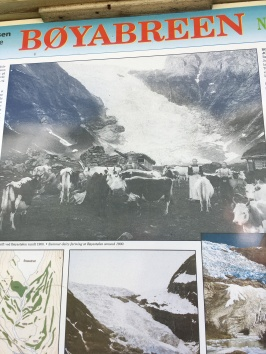 The olden days of farming by the glacier