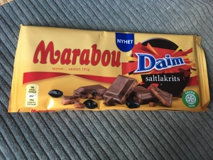 Amazing chocolate - flavoured with salty liquorice pieces